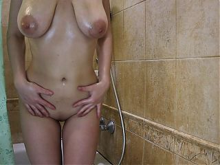 He spied on me in the shower, I forbade him to cum