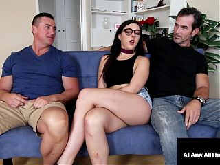 Geeky Whitney Wright Ass Banged With Cuckold BF Watching!
