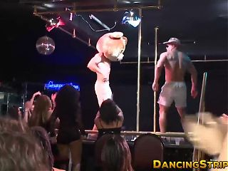 Young goddess fucked by stripper at naughty CFNM party