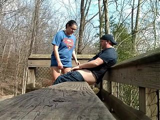 Amateur couple ALMOST caught fucking at the park