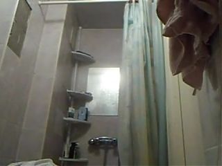 Small tits ready for shower Ewa caught hidden cam