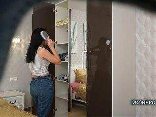 Diana at home. Czech spycam porn