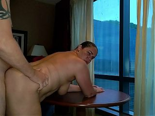 Window fucking wife in a Casino Resort Hotel in Salamanca, NY