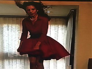 The Woman In Red (Wind Blown Skirt)