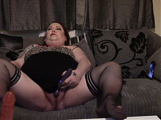 BBW Slut Watches a friend and Plays With Her Wet Cunt - Tina Snua
