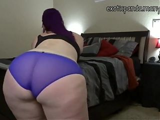 Sexy chubby girl in panties