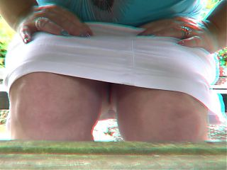 Julie Cunningham exposing pussy in English Pub garden, Voyeur